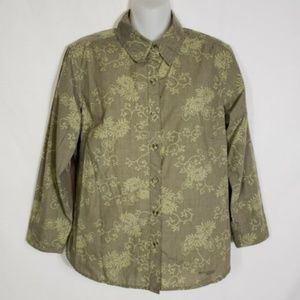 Columbia Sportswear GRT Floral Button Blouse Med